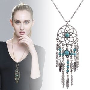 Jewelry - Boho Dream Catcher Silver Gold Bead Necklace A2